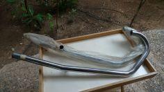 Moto Guzzi V35-V50-V50 II new NOS exhaust pipe set