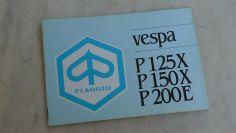 Piaggio Vespa 125 150 PX 200 PE owners manual in Greek